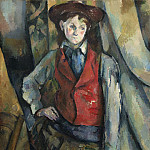 Paul Cezanne - Boy in a Red Waistcoat, National Gallery of Art (Washington)