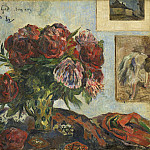 Still Life with Peonies, Paul Gauguin