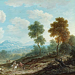 Johann Christoph Dietzsch - Travelers in a Broad Valley, National Gallery of Art (Washington)