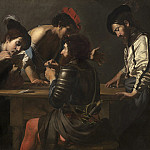 National Gallery of Art (Washington) - Valentin de Boulogne - Soldiers Playing Cards and Dice (The Cheats)