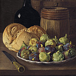 Luis Melendez - Still Life with Figs and Bread, National Gallery of Art (Washington)