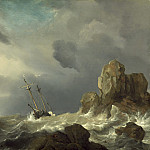 Ships in a Gale, Willem van de Velde the Younger