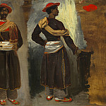 National Gallery of Art (Washington) - Eugene Delacroix - Two Studies of a Standing Indian from Calcutta