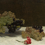 Henri Fantin-Latour - Still Life with Grapes and a Carnation, National Gallery of Art (Washington)