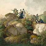 Johann Georg von Dillis – A Royal Party Admiring the Sunset atop the Hesselberg Mountain, National Gallery of Art (Washington)