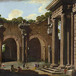 Niccolo Codazzi - The Basilica of Constantine with a Doric Colonnade, National Gallery of Art (Washington)