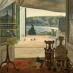 National Gallery of Art (Washington) - Carl Wilhelm Gotzloff - Antiquities by a Balcony Overlooking the Gulf of Naples