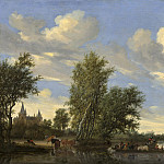 National Gallery of Art (Washington) - Salomon van Ruysdael - River Landscape with Ferry