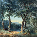 National Gallery of Art (Washington) - Ludwig Hess - A Wooded Lakeside with an Italianate Villa