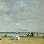 Eugene Boudin - Beach at Trouville, National Gallery of Art (Washington)
