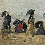 Eugene Boudin – The Beach, National Gallery of Art (Washington)