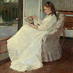 Berthe Morisot - The Artist's Sister at a Window, National Gallery of Art (Washington)