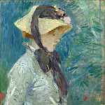 Berthe Morisot - Young Woman with a Straw Hat, National Gallery of Art (Washington)