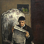 The Artist's Father, Reading «L'Evenement», Paul Cezanne