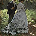 Bazille and Camille (Study for «Dejeuner sur l'Herbe»), Claude Oscar Monet
