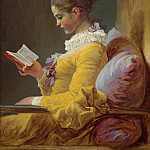 Jean-Honore Fragonard - Young Girl Reading, National Gallery of Art (Washington)