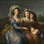 Elisabeth-Louise Vigee Le Brun - The Marquise de Pezay, and the Marquise de Rouge with Her Sons Alexis and Adrien, National Gallery of Art (Washington)