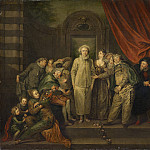 after Antoine Watteau - The Italian Comedians , National Gallery of Art (Washington)