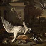 Jan Weenix - Still Life with Swan and Game before a Country Estate, National Gallery of Art (Washington)