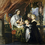 Deborah Kip, Wife of Sir Balthasar Gerbier, and Her Children, Jacob Jordaens