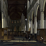 Emanuel de Witte - The Interior of the Oude Kerk, Amsterdam, National Gallery of Art (Washington)