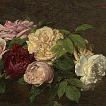 Henri Fantin-Latour - Roses de Nice on a Table, National Gallery of Art (Washington)