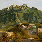 Sebastien-Louis-Guillaume Norblin de la Gourdaine – Village on the Island of Ischia, National Gallery of Art (Washington)