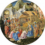 Fra Angelico and Fra Filippo Lippi - The Adoration of the Magi, National Gallery of Art (Washington)