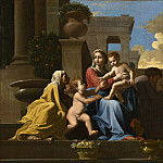 National Gallery of Art (Washington) - Follower of Nicolas Poussin - The Holy Family on the Steps
