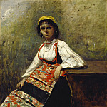 Jean-Baptiste-Camille Corot - Italian Girl, National Gallery of Art (Washington)