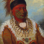 National Gallery of Art (Washington) - George Catlin - The White Cloud, Head Chief of the Iowas