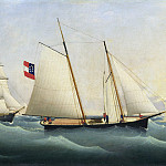 "National Gallery of Art (Washington) - Fritz Muller - Capture of the ""Savannah"" by the ""U.S.S. Perry"""