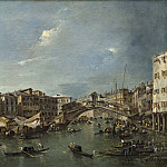 Francesco Guardi - Grand Canal with the Rialto Bridge, Venice, National Gallery of Art (Washington)