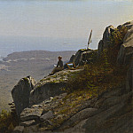 Sanford Robinson Gifford - The Artist Sketching at Mount Desert, Maine, National Gallery of Art (Washington)