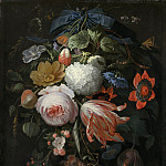 Abraham Mignon - A Hanging Bouquet of Flowers, National Gallery of Art (Washington)