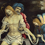 National Gallery of Art (Washington) - Filippino Lippi - Pieta (The Dead Christ Mourned by Nicodemus and Two Angels)