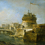 Francesco Guardi - Fanciful View of the Castel Sant'Angelo, Rome, National Gallery of Art (Washington)