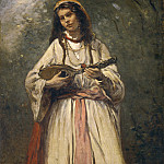 Gypsy Girl with Mandolin, Jean-Baptiste-Camille Corot