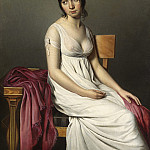 Circle of Jacques-Louis David - Portrait of a Young Woman in White, National Gallery of Art (Washington)
