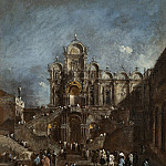 Francesco Guardi - Temporary Tribune in the Campo San Zanipolo, Venice, National Gallery of Art (Washington)