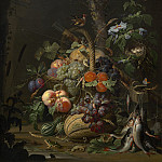 Abraham Mignon - Still Life with Fruit, Fish, and a Nest, National Gallery of Art (Washington)