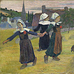 Breton Girls Dancing, Pont-Aven, Paul Gauguin
