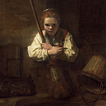 National Gallery of Art (Washington) - Rembrandt Workshop (Possibly Carel Fabritius) - A Girl with a Broom