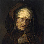 Follower of Rembrandt van Rijn - Head of an Aged Woman, National Gallery of Art (Washington)
