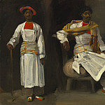 Two Studies of an Indian from Calcutta, Seated and Standing, Ferdinand Victor Eugène Delacroix