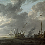 National Gallery of Art (Washington) - Simon de Vlieger - Estuary at Dawn
