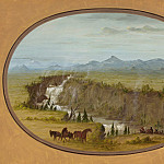 George Catlin – Falls of the Snake River, National Gallery of Art (Washington)