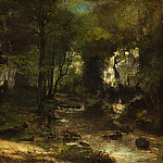 Gustave Courbet - The Stream , National Gallery of Art (Washington)
