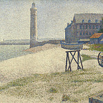 National Gallery of Art (Washington) - Georges Seurat - The Lighthouse at Honfleur