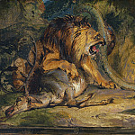 Sir Edwin Landseer – Lion Defending its Prey, National Gallery of Art (Washington)